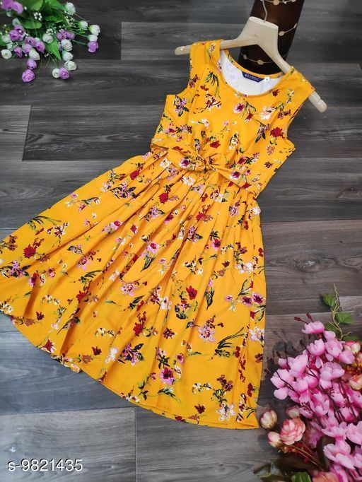 Maternity Topwear  vishu creation Women Dresses  *Fabric* Polycrepe  *Multipack* 1  *Sizes*   *S (Bust Size* 36 in, Length Size  *Sizes Available* S *    Catalog Name: Pretty Fashionista Women Maternity Dresses CatalogID_1746153 C79-SC1031 Code: 427-9821435-
