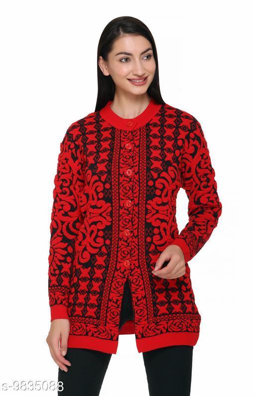 S.L. Madhok Full Sleeve High Quality Long Woolen Women Cardigan