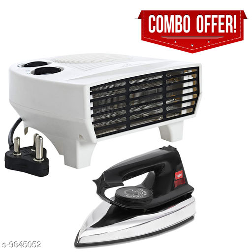 Fogger Smart 2000W Air Heater With Black Dry Iron