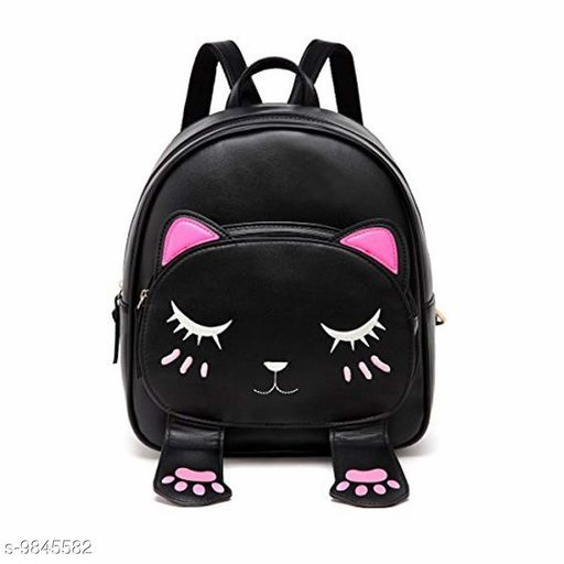 Backpacks Women Backpack Purse PU Leather Casual Backpack Bags Stylish/Fancy Women Backpack.  *Material* PU  *No. of Compartments* 1  *Pattern* Self Design  *Multipack* 1  *Sizes*   *Free Size (Length Size* 12 in, Width Size  *Sizes Available* Free Size *    Catalog Name: Gorgeous Versatile Women Backpacks CatalogID_1751474 C73-SC1074 Code: 493-9845582-