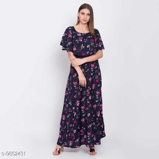 Printed Crepe Flair Dress Vol.1