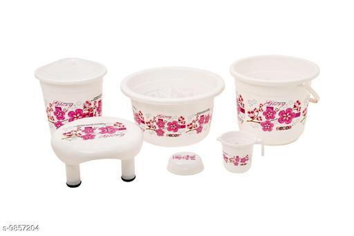 Bath Sets Plastic Bathroom Set White Pink  *Pack* Multipack  *Sizes Available* Free Size *    Catalog Name: Modern Bath Sets CatalogID_1753615 C132-SC1587 Code: 577-9857204-
