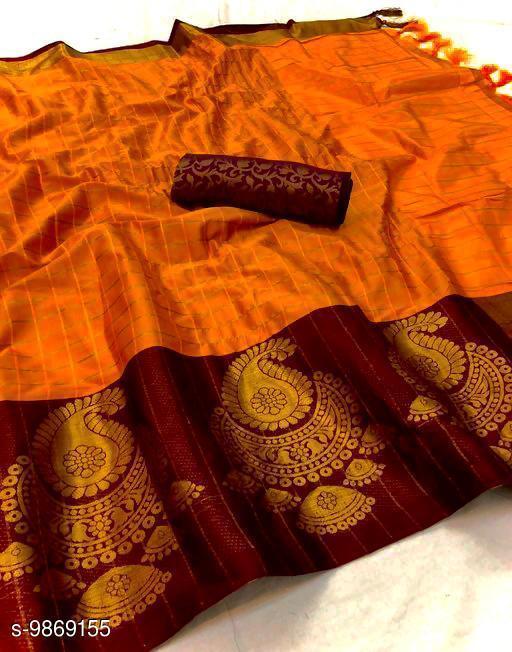 Soft Silk Fanta Color saree with zalar pallu and bouse