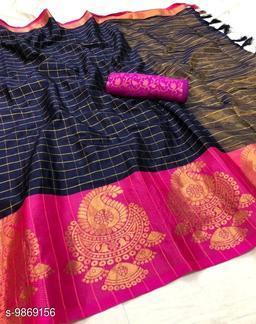 Soft Silk Blue Pink Color saree with zalar pallu and bouse