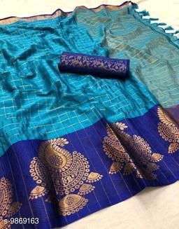 Soft Silk SKyBlue Color saree with zalar pallu and bouse