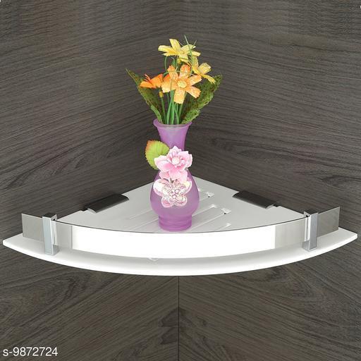 Acrylic Multipurpose Bathroom Corner Shelf/Rack/Decorative Corner Wall Shelf/Bathroom Accessories(12 x 12 in)