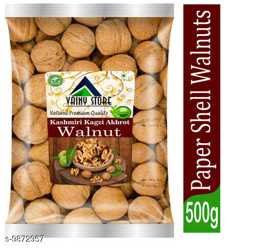 Dry Fruits  Kashmiri Walnuts Kashmiri Walnuts.  *Capactity * 500gm  *Sizes Available* Free Size *    Catalog Name: Dry Fruit  (1529401) CatalogID_1756643 C89-SC1738 Code: 225-9872957-