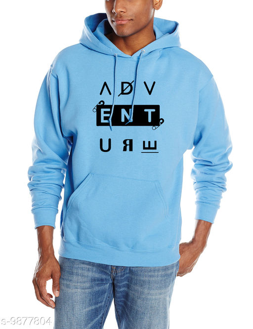 ADVENTURE Printed Hooded Neck Sweatshirt for Men