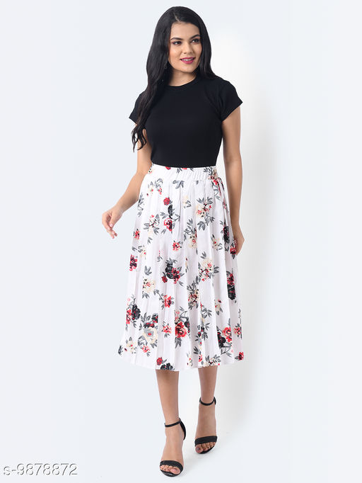 Real Vibes Pleated Skirt