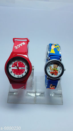 combo-2 red race & dar blue chota bhim watches for kids