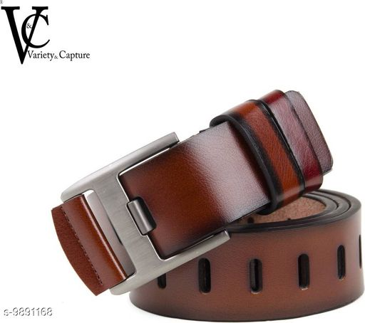 Variety & Capture Men Casual Brown Artificial Leather Reversible Belt