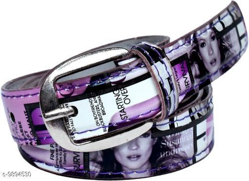 Women Casual Purple Artificial Leather Belt