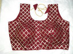 PU Zarri Patti Design Premium Qulity fully Stitched Blouse