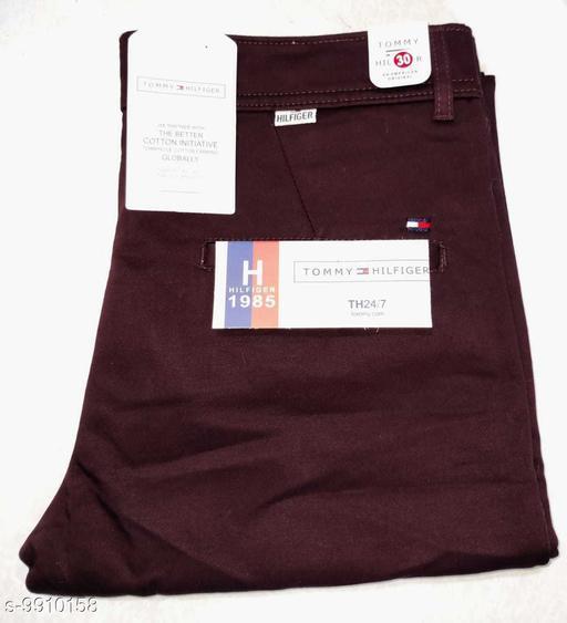 Trousers Men's Premium Cotton Trousers  *Fabric* Cotton  *Sizes*   *30 (Waist Size* 30 in, Length Size  *Sizes Available* 30 *    Catalog Name: Stylish Unique Men Trousers CatalogID_1765080 C69-SC1212 Code: 236-9910158-
