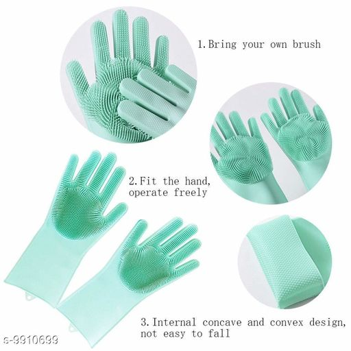 Oven Gloves washing gloves(multicolor)  *Material* Rubber  *Size* Free Size  *Sizes Available* Free Size *    Catalog Name: Wonderful Cleaning Gloves CatalogID_1765198 C129-SC1636 Code: 564-9910699-