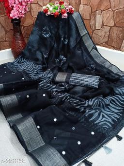 Beautiful cotton slub saree
