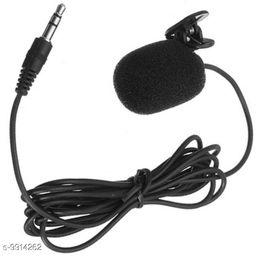 Giffy® 3.5mm Jack, 1.2 Meter in Length, Clip Microphone For Youtube | Collar Mike for Voice Recording | Lapel Mic Mobile, PC, Laptop, Android Smartphones, DSLR Camera Microphone