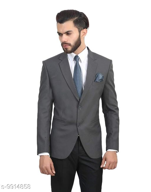 Blazers Men's Slim Fit Formal Blazer   *Fabric* Polycotton  *Sleeve Length* Long Sleeves  *Pattern* Solid  *Multipack* 1  *Sizes*   *S (Chest Size* 36 in, Length Size  *Sizes Available* S *    Catalog Name: Urbane Graceful Men Blazers CatalogID_1766124 C70-SC1210 Code: 9912-9914858-