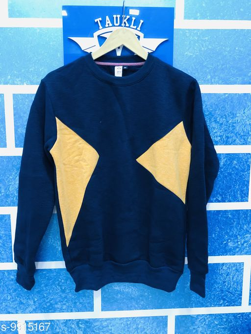 Sweatshirts Sweatshirt  *Fabric* Cotton  *Multipack* 1  *Sizes*   *M (Length Size* 28 in)  *Sizes Available* M *    Catalog Name: Stylish Fashionable Men Sweatshirts CatalogID_1766194 C70-SC1207 Code: 726-9915167-