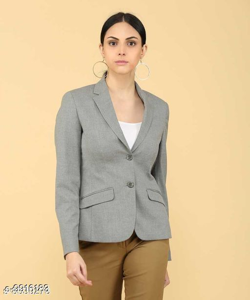 Blazers Women's Formal Blazer  *Fabric* Polycotton  *Sleeve Length* Long Sleeves  *Pattern* Solid  *Multipack* 1  *Sizes*   *S (Chest Size* 36 in, Length Size  *Sizes Available* S, M, L, XL *    Catalog Name: Trendy Ravishing Men Blazers CatalogID_1766405 C70-SC1210 Code: 9912-9916183-