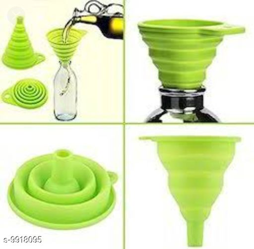 Collapsible Silicone Funnel | for Pouring Oil, Sauce, Water, Juice, Small Food-Grains