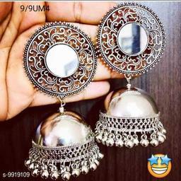 Stylishy Silver Earrings (N)