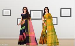 Ethnic Silk Sarees (Pack Of 2 )