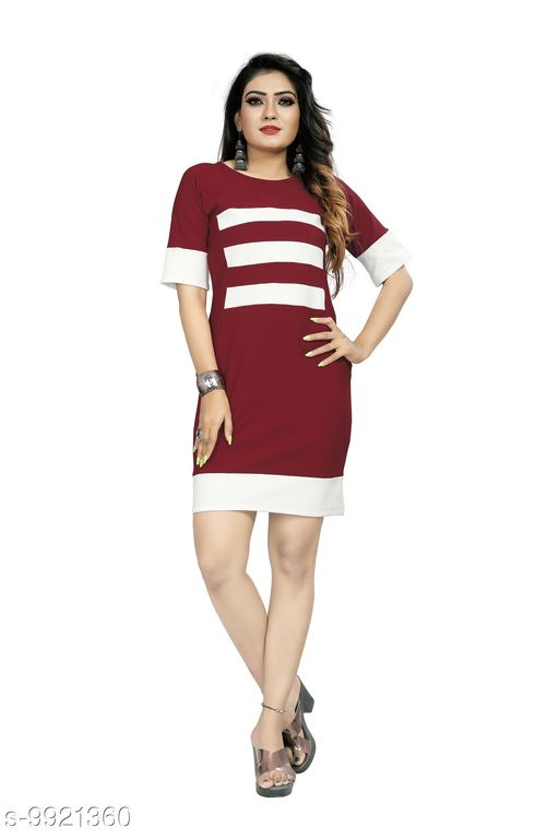 Dresses  Classy Women's 95% Polyster + 5% Spendex Dresses Fabric: Polyester Sleeve Length: Three-Quarter Sleeves Pattern: Checked Multipack: 1 Sizes: S (Bust Size: 34 in, Length Size: 36 in)  XL (Bust Size: 40 in, Length Size: 36 in)  L (Bust Size: 38 in, Length Size: 36 in)  M (Bust Size: 36 in, Length Size: 36 in)  Sizes Available: S, M, L, XL    Catalog Name: Trendy Retro Women Dresses CatalogID_1767357 C79-SC1025 Code: 465-9921360-999