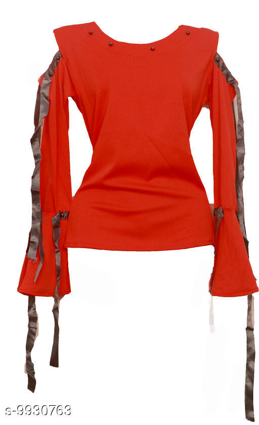 Sportwear Tops Casual tops  *Fabric* Rayon  *Multipack* 1  *Sizes*  L  *Sizes Available* L *    Catalog Name: Comfy Women Sports & Activewear Tops CatalogID_1769563 C78-SC1058 Code: 266-9930763-