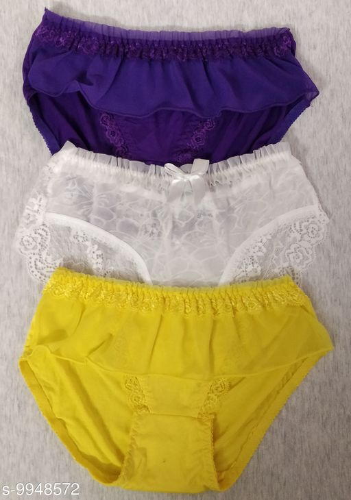 Briefs TRENDY WOMEN BRIEFS  *Fabric* Polyester  *Multipack* 3  *Sizes*   *XS (Waist Size* 26 in)  *Sizes Available* XS *    Catalog Name: Sassy Women Briefs CatalogID_1773887 C76-SC1042 Code: 623-9948572-