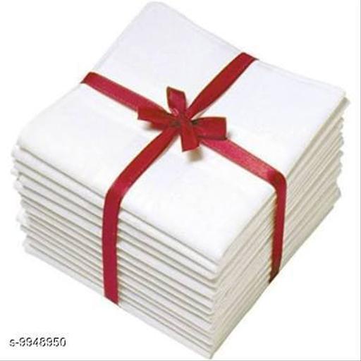 FASHLOOK PACK OF 12 WHITE HANDKERCHIEFS
