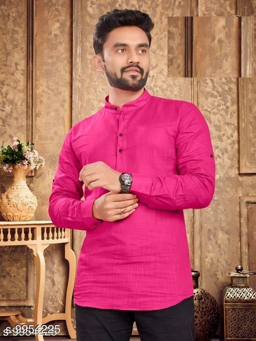 Kurtas Trendy Men's Kurta Sleeve Length: Long Sleeves Pattern: Solid Combo of: Single Sizes:  XL (Length Size: 31 in)  L (Length Size: 30 in)  M (Length Size: 29 in)  XXL (Length Size: 31 in) Country of Origin: India Sizes Available: M, L, XL, XXL *Proof of Safe Delivery! Click to know on Safety Standards of Delivery Partners- https://ltl.sh/y_nZrAV3  Catalog Rating: ★4 (455)  Catalog Name: Modern Men Kurtas CatalogID_1775284 C66-SC1200 Code: 765-9954225-