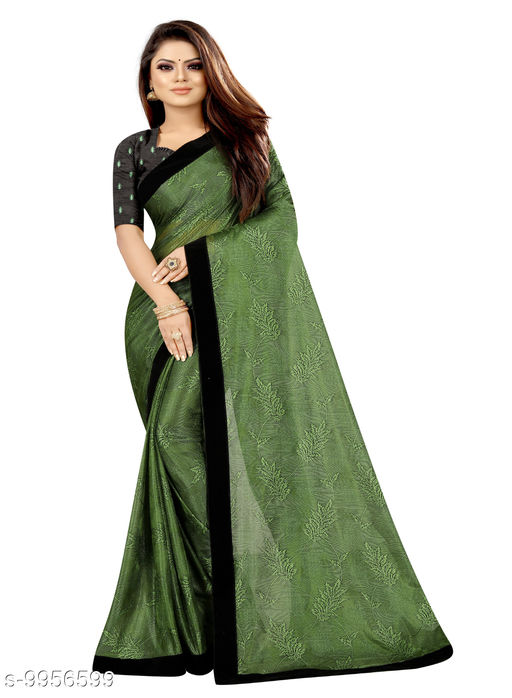 Fancy Coconet Jacqard Woven Saree With Embroideri Work Blouse