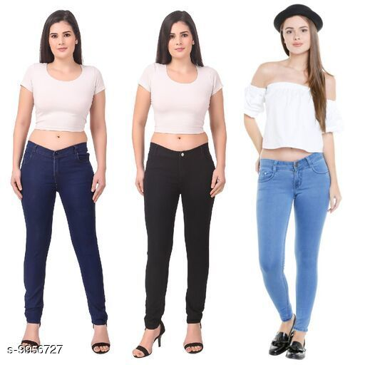 Latest Denim Jeans Combos For Women ( Pack of 3 )