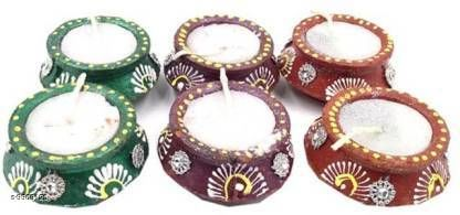 Festive Diyas & Candles  * Matki diya no.8 Terracotta (Pack of 6) Table Diya Set  (Height* 2 inch)  *Material* Teracotta  *Pack* Pack of 6  *Type * Diya  *Size * Free size (Product Length  *Descripton * it has 6 piece of diyas  *Sizes Available* Free Size *    Catalog Name: Modern Festive Diyas CatalogID_1777544 C128-SC1604 Code: 773-9963125-