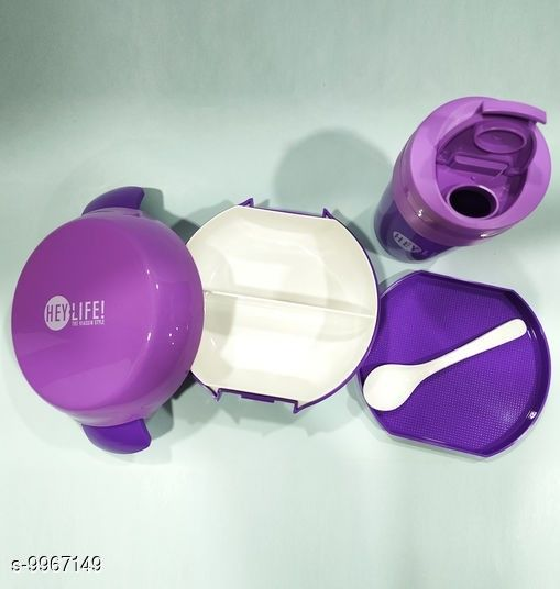JIMPLEI Wheat Straw Rectangle shape Fiber 1150 ml Lunch Tiffen Box With Spoon for Office School-Purple