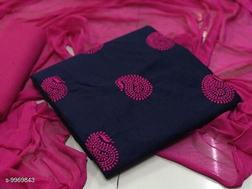 cotton embroidery  Dreess Material