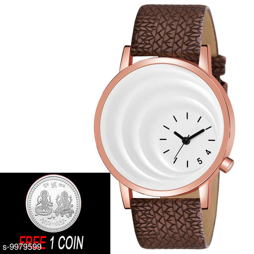 FREE 1 PCS SILVER COLOR COIN WITH MT - 16 White Dial with Rosegold Case Analogue MT Watch for Boy's and Men' 1 Pcs