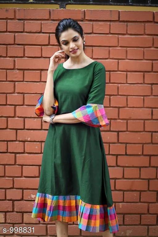 Women's Solid Green Dress