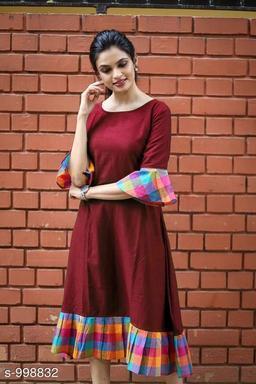 Women's Printed Maroon Dress