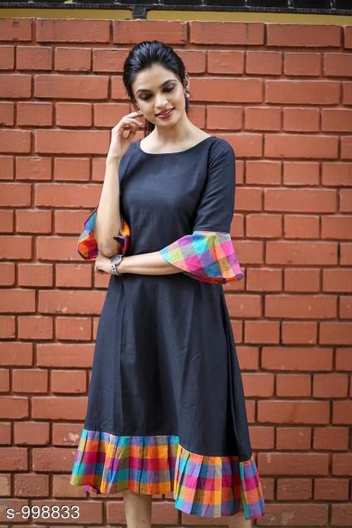 Women's Printed Navy Blue Dress