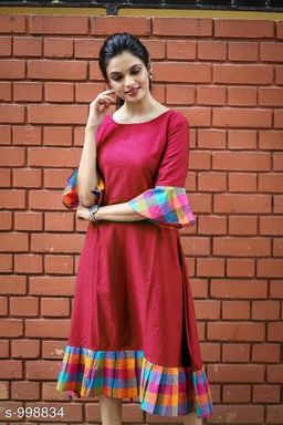 Women's Printed Red Dress