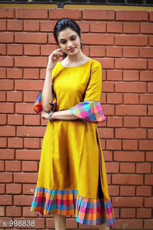 Women's Printed Yellow Dress