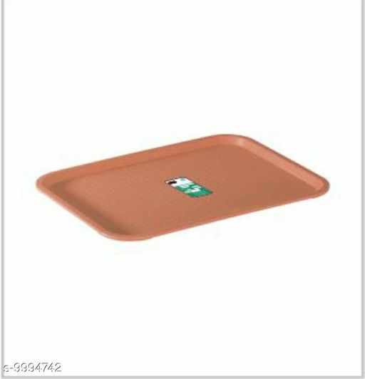 Plastic Serving Tray Platter Rectangular Shape Plastic Trays for Drink Breakfast Tea Dinner Coffee Salad Food for Dinning Table Home Kitchen c